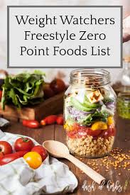 Weight Watchers Turnaround Program Points Chart Weight Watchers Freestyle Zero Point Foods List Dash Of Herbs