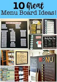 Weekly Menu For One 10 Great Menu Board Ideas Momof6
