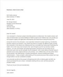 Cover Letter For Internship 9 Internship Cover Letter Free Sample Example Format Download