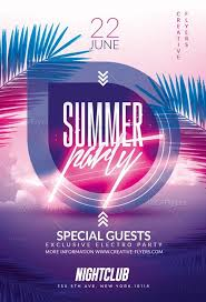 Summer Party Flyers Summer Party Flyer Templates Psd Creative Flyers