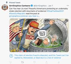 """Jake Tapper on Twitter: """"MAGA Cartoonist Ben Garrison, who has drawn  racist, anti-Semitic, and pro-Q-Anon cartoons, was suspended for this one:…  https://t.co/KhQbuhvIz5"""""""