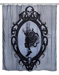 Skull Bedroom Curtains Inked Boutique Octopus Cameo Shower Curtain Victorian Inspired