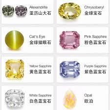 Semi Precious Stone Color Chart Semi Precious Stone