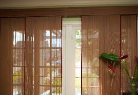 image of patio door curtains and blinds