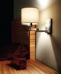 amazing wall mounted bedside lamps with gray shades and lights on the design of the drum