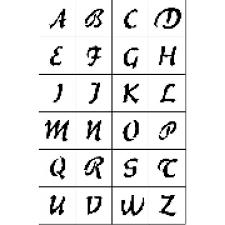 Set Di Lettere Stencil Per Tatuaggi Temporanei Tattoos
