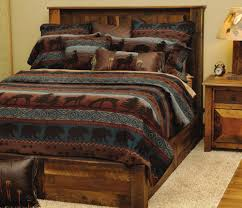image of rustic cabin bedding kit