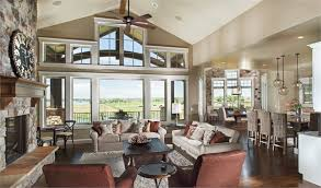 great room of craftsman house plan 161 1067