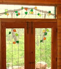 leaded glass front doors stained australia