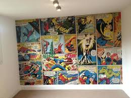 marvel comic book covers wall mural  on marvel comic book wall mural with instant comic book wallpaper a kids room marvel chair rail wall