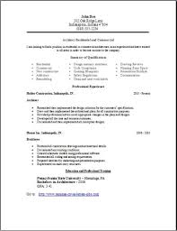 Architecture Resume Occupational Examples Samples Free Edit With Word