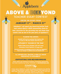 applebee s announces above and bee yond teacher essay contest  applebee s announces above and bee yond teacher essay contest forked river gazette