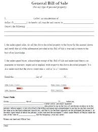 Personal Bill Of Sale For Car Bill Of Sale Car Beautiful Sample Auto And Forms Attorney