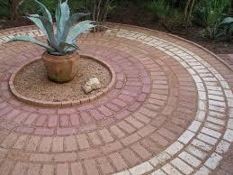 brick patio circle pattern