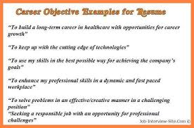 7 Career Objective For Cv Receipts Template