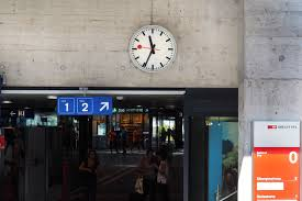mondaine station clock in zug