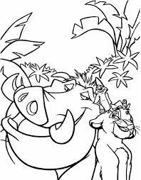 Stampa Disegno Di Pumba Re Leone Da Colorare Colorare