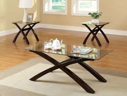coffee table glass and wood top tables end modern furniture