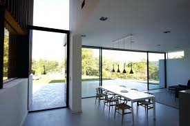 floor to ceiling glass wall contemporary on floor