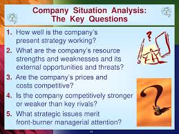 Situational Analysis Questions Evaluating A Companys Resources And Competitive Position Ppt Download