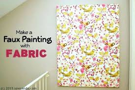 decoration how to frame fabric for wall art fresh decor ideas faux artistic diy panels