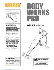 Weider Body Works Pro Chart Weider Body Works Pro Manuals