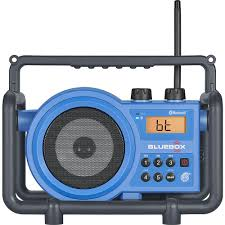 compact am fm bluetooth aux in ultra rugged rechargeable speaker with digital