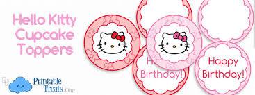 Hello Kitty Cupcake Toppers Printable Printable Treats Com