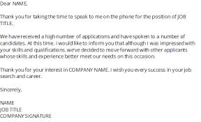 How To Reject A Job Candidate How To Write A Rejection Letter After An Interview Samples