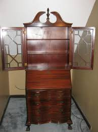 antique secretary cabinet with drop down desk for