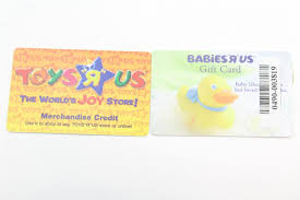 an image relevant to this listing es r us gift card toys