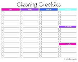 Weekly Household Chores Household Chore Checklist Template Chart Chores Around The House