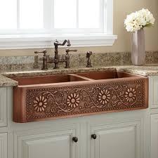Brown Granite Kitchen Kitchen Awesome Undermount Single Bowl Copper Kitchen Sink With