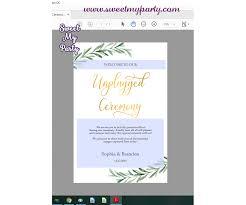 Ceremony Template Greenery Unpplugged Ceremony Sign Template Greenery Unplugged Wedding Sign Template 78