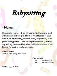 Babysitting Templates Flyers Babysitting Flyer Templates Babysitting Flyers Template Free