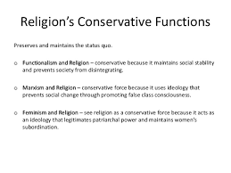 unit sociology beliefs in society religion s conservative