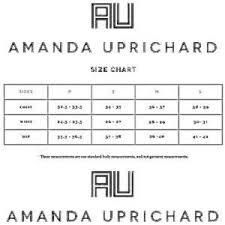 Amanda Uprichard Size Chart Amanda Uprichard Black Silk Gold Lame Mini