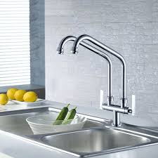 Double Faucet Sink Exquisite Designed One Hole Kitchen Faucets Duravit