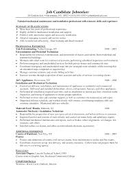 hotel maintenance resume sample