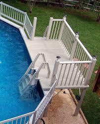 Prefab Pool Decks Modern Above Ground For Sale Deck Kits Home Depot 11  Winduprocketappscom Prefab Wood Pool Decks Deck Kits Lowes