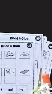 They are ready to practice kids for counting. Cut Paste Worksheets For Short A Word Families The Measured Mom