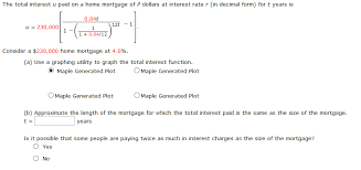 Release Of Interest Form Impressive Solved The Total Interest U Paid On A Home Mortgage Of P