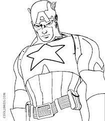 Coloring Pages Captain America Captain America 45 Superheroes
