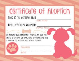 11 Adoption Certificates Templates Credit Letter Sample