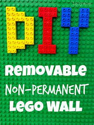 diy removable non permanent lego walls from lalymom great for any duplo or lego