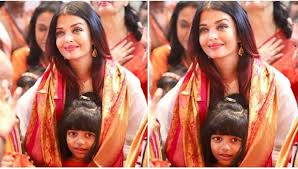 aishwarya rai bachchan and her daughter aaradhya look pristine as they offer prayers to lord ganesha