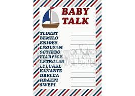Nautical Baby Shower Game Nautical Theme Baby by BabyShowerBakery, $5.50