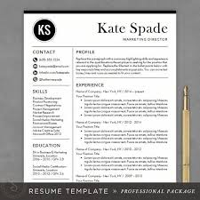 professional resume template cv template mac or pc for word creative modern design cover letter instant download the kate proffesional resume templates