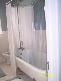 how to make a clawfoot tub shower curtain rod