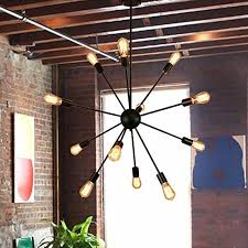 midcentury modern apartment sputnik chandelier housen solutions 12 lights pendant lighting painted black pendant